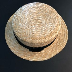 Accessories - Straw boat hat
